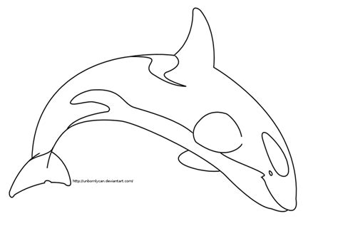 orca line art by glitzychan on deviantart