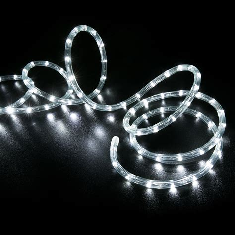 150 cool white led rope light home outdoor christmas