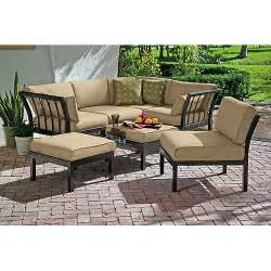Outdoor Patio Furniture Sectionals Ragan Meadow 7 Outdoor Sectional Sofa Set Seats 5 Walmart