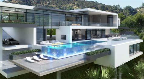 two modern mansions on sunset plaza drive in la 5 homedsgn