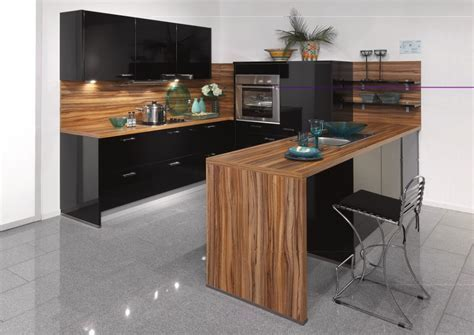 Ultra Modern And Sleek Black And Wood Kitchens   Page 2 of 3
