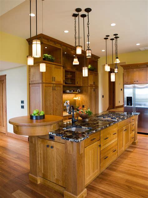 Gourmet Kitchen Island Gourmet Craftsman Kitchen With Multiple Pendant Lights Hgtv