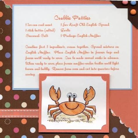 Paper Crafting Recipe - 305 best images about scrapbook cookbook ideas on