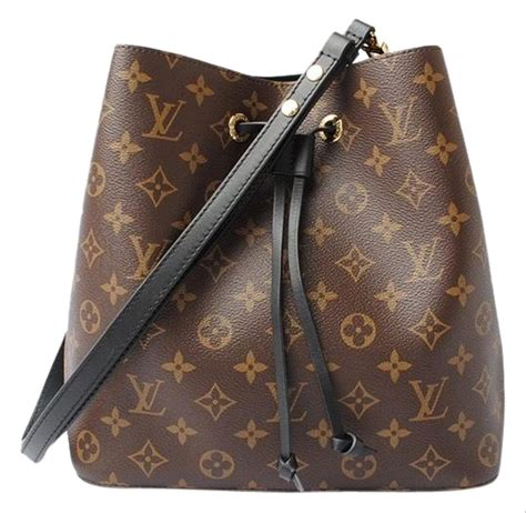 louis vuitton neonoe black monogram weekendtravel bag