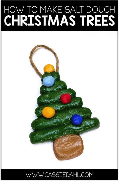 homemade christmas ornaments  flour  salt