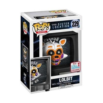 Funko Pop Fnaf Location Lolbit Nycc Exclusive 229 figuren pop nycc 2017 fnaf location lolbit limitierte auflag