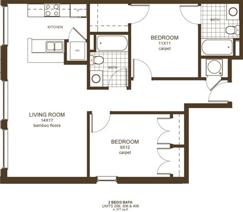downtown richmond va 2 bedroom apartments floor plans