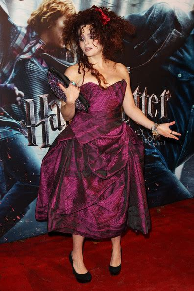 Helena Bonham Carries Intestine Bag At Harry Potter by Helena Bonham In Vivienne Westwood Best Dressed