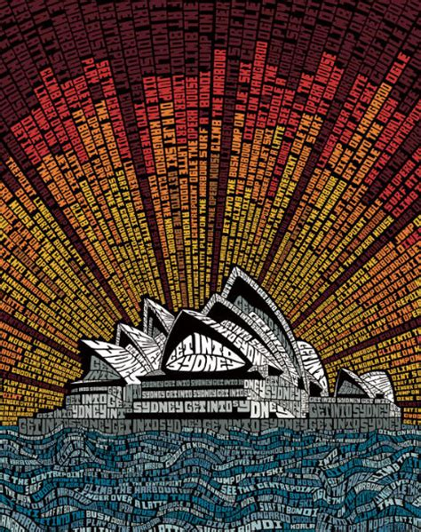 design art australia online graphic archi type 14 buildings cities made of text