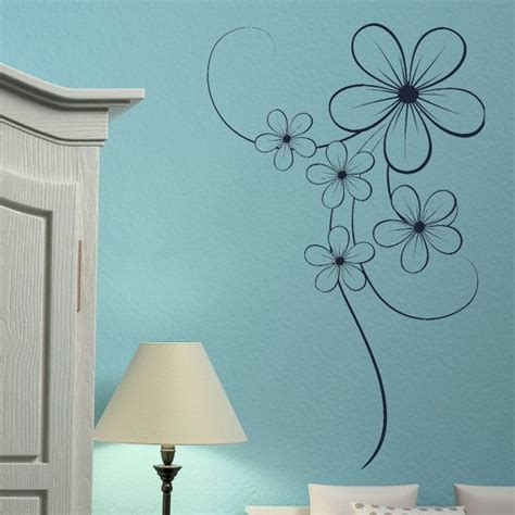 flower wall stickers for bedrooms bedroom wall stickers elegant flower decal vinyl transfer