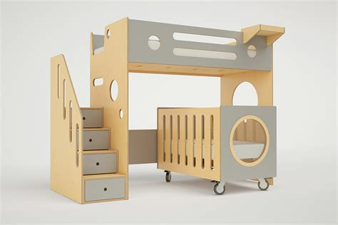 Marino Bunk Bed Over Crib Casa Kids Bunk Bed With Crib