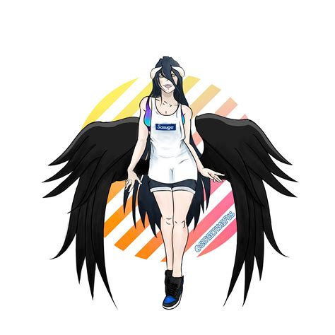 R Anime Overlord by Albedo As The Summer Streetwear Succubus Overlord