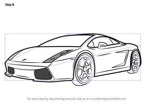 lamborghini car drawing by how to draw a lamborghini car