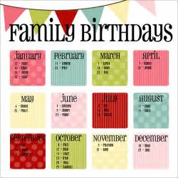 family birthday calendar template birthday calendar calendar template free premium