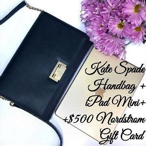 Ipad Mini With Gift Card - contest win an ipad mini kate spade handbag 500 nordstrom gift card