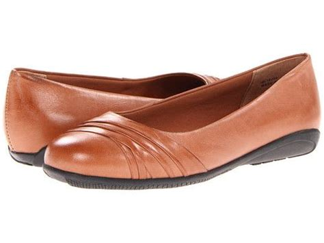 comfortable black flats with arch support walking cradles flick in tan leather ballet flat with