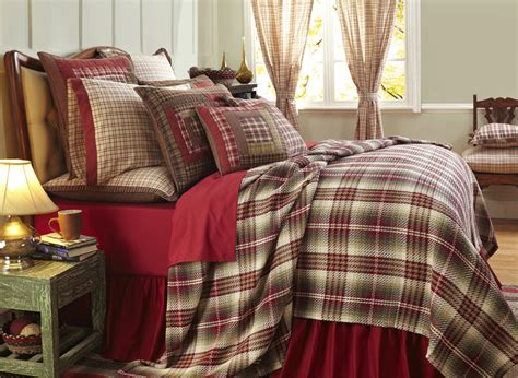 red matelasse coverlet tacoma woven red plaid coverlet by vhc brands