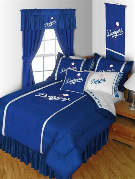 dodgers bed set mlb los angeles dodgers bedding and room decorations