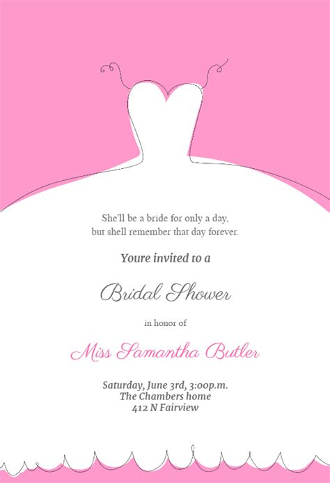 when should bridal shower invitations be mailed wedding dress invitation free bridal shower invitation template greetings island