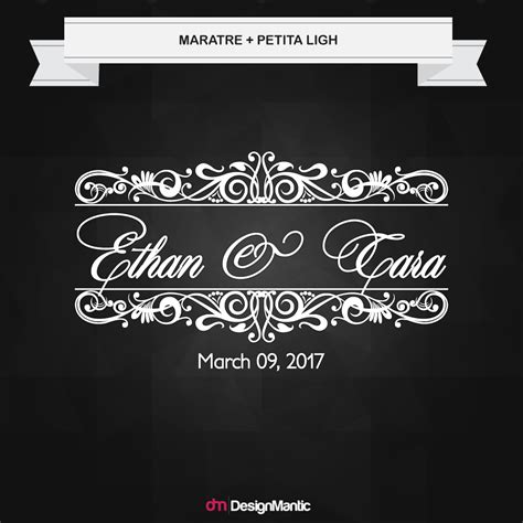 designmantic font wedding font pairings designmantic the design shop