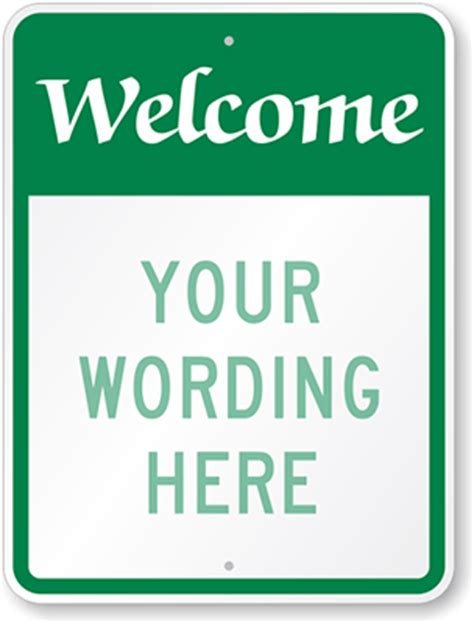 welcome sign template visitor parking signs custom templates