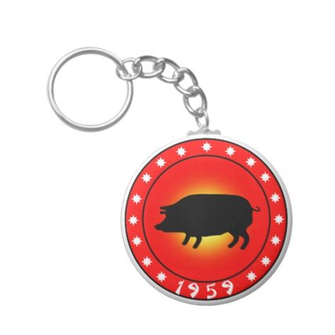 year of the pig 1959 keychain zazzle