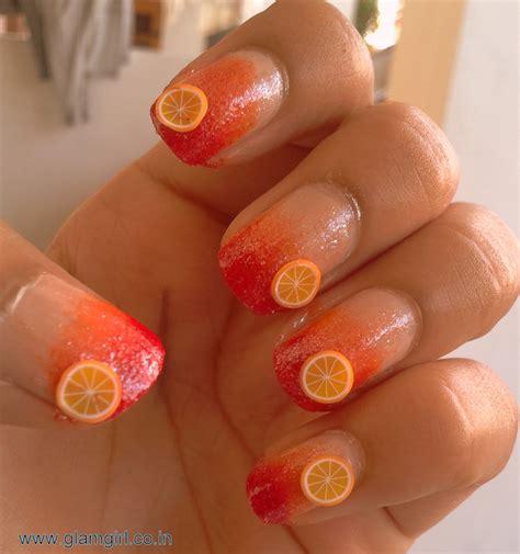 imagenes y videos de uñas pintadas u 241 as pintadas de naranja