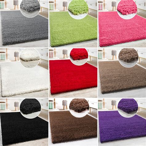 teppiche 160x230 hochflor shaggy langflor teppich versch farben u gr 246 ssen