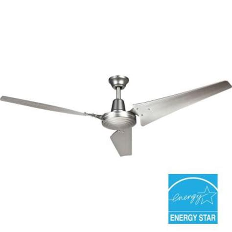 industrial ceiling fans home depot hton bay industrial 60 in brushed steel indoor energy