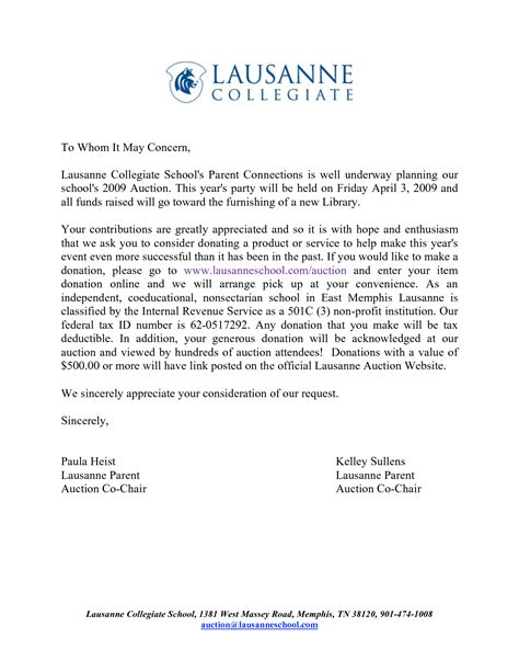 cover letter for donation request gallery cover letter
