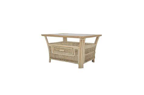 shore wicker rattan conservatory furniture coffee table