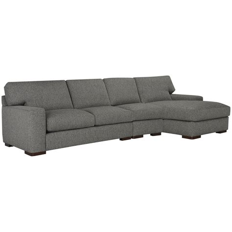 City Furniture Veronica Gray Down Small Right Chaise