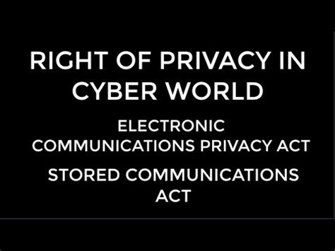 electronic communications privacy act stored