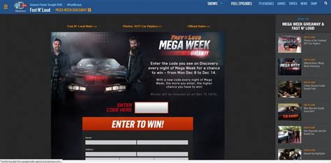 Discovery Channel Sweepstakes - discovery channel fast n loud giveaway fastnloudgiveaway com