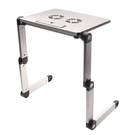 free shipping portable silver foldable folding adjustable laptop notebook table stand desk 360