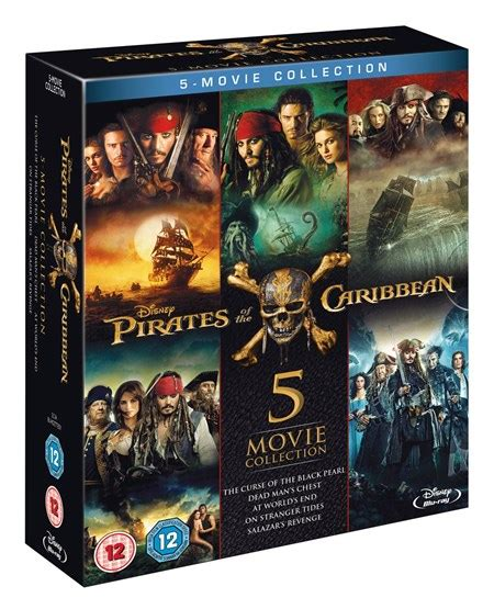 film blue pirates pirates of the caribbean 5 movie collection box set