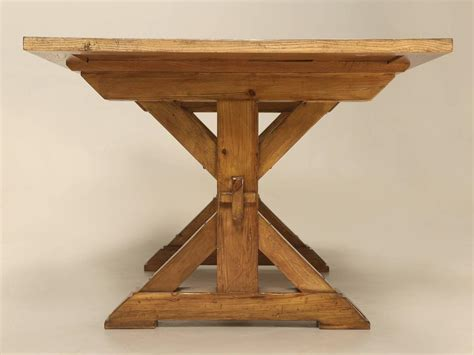 French Style Parquet Trestle Dining Table For Sale At 1stdibs Trestle Dining Table Sale