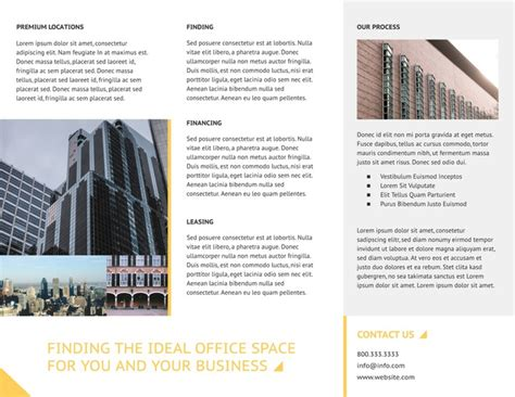commercial real estate brochure template lucidpress