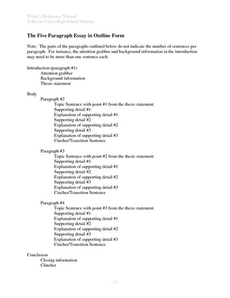 best photos of school outline template project outline