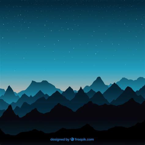 blue sky landscape blue landscape with mountains vector free