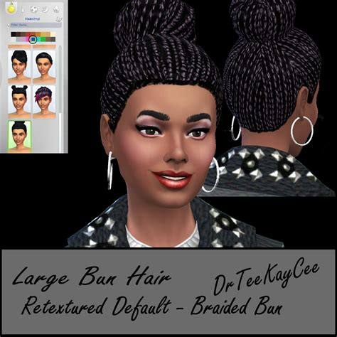 sims 4 bun braids my sims 4 blog large bun hair braided by simculturenation