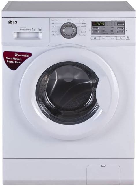 Mesin Cuci Lg Front Loading 6kg lg 6 kg fully automatic front load washing machine white