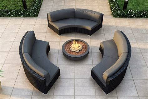 Curved Garden Sofa by Curved Patio Sofa Sunset West Solana Wicker 3 Curved