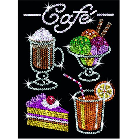 sequin art cafe treats sparkly craft picture kit sa