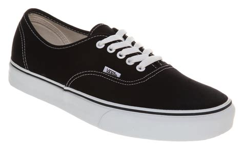 ebay vans mens vans authentic black white trainers shoes ebay