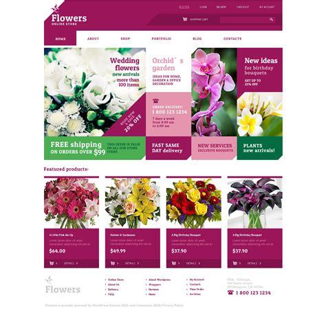 website templates for gift shop szablon jigoshop 48314 na temat kwiaciarnia
