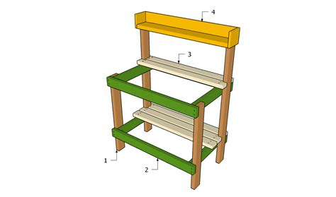 plans for building a bench pdf diy garden potting table plans download garden arbor