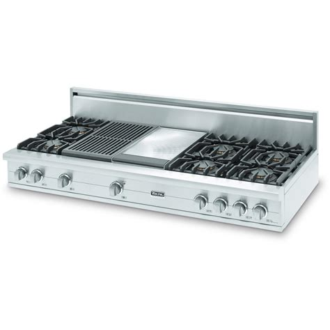 Cooktop With Grill And Griddle viking vgrt560 6gqlp 60 inch professional series propane