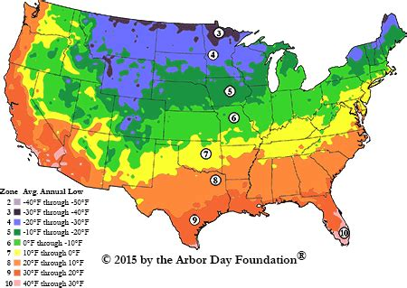 america garden zone map hardiness zone map at arborday org
