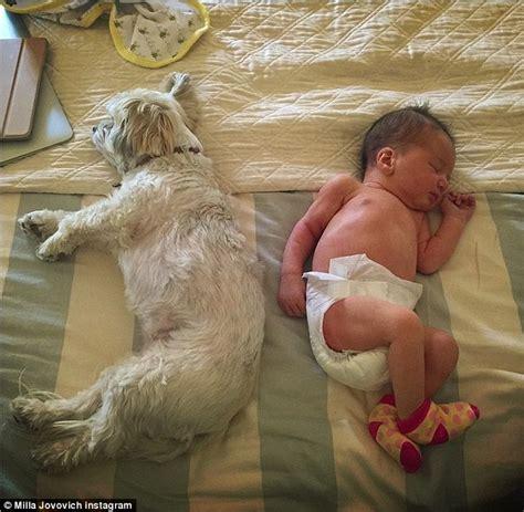 Born Evil Three milla jovovich posts snap of newborn